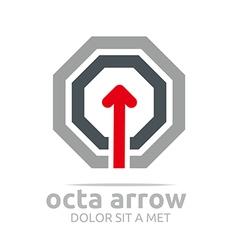 Octa arrow design element symbol icon vector