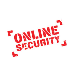 online security rubber stamp vector image