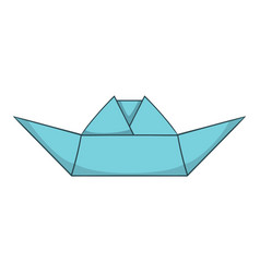 Origami boat icon cartoon style vector