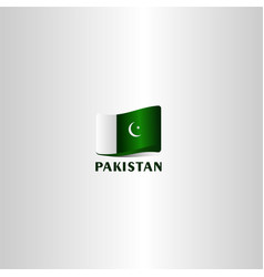Pakistan independence day template design vector