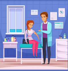 Physician visit cartoon composition vector