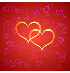 red Saint Valentines background vector image
