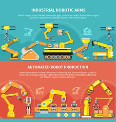 Robotic arm flat composition vector