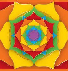Sacred lotus with the seven colors of the chakras vector