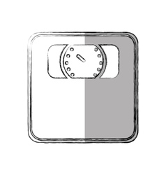 Scale measure weight isolated icon vector