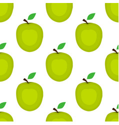 seamless background apple on a white background vector image