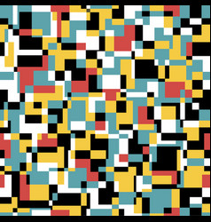 Seamless noisy pattern in retro colors art vector