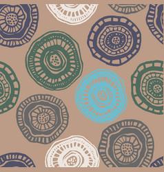 Seamless pattern with vintage aborigine vector