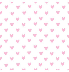Seamless watercolor heart pattern on paper vector