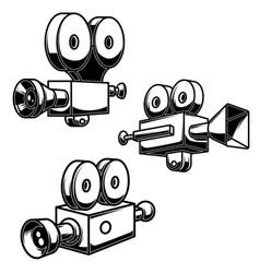 set vintage camcorders design element for vector image