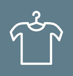 Shirt on hanger vector
