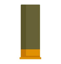 Shotgun green cartridge icon flat style vector