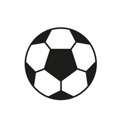 soccer ball icon on white background vector image