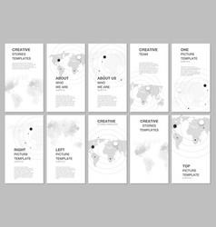 social networks stories design banner or flyer vector image