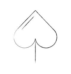 Spade poker symbol icon vector
