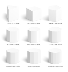 three d prism template Realistic with shadow vector image