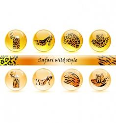wild icons vector image
