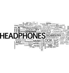 wireless headphones text word cloud concept vector image