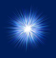 blue abstract explosion graphic design background vector image vector image
