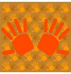 Hands background vector image vector image