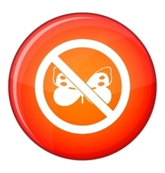 No butterfly sign icon flat style vector image vector image