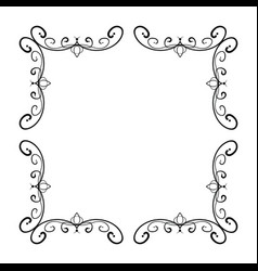 simple and elegant square frame design template vector image