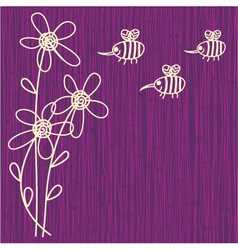bee sketch background vector image