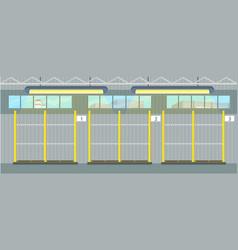 empty pallet in warehouse interior waiting cargo vector image