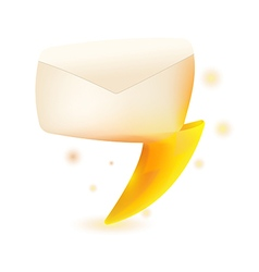 Mail thunder spark symbol design vector