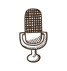 Microphone symbol vector image