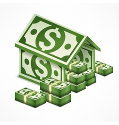 Money house made vector image vector image