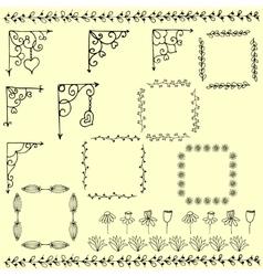 Set of corners vector image