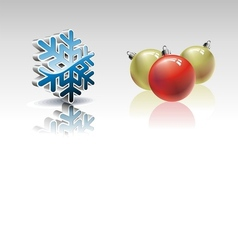 christmas collection with 3d elements vector image