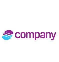 help hands logo vector image