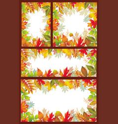 set of seasonal banner of autumnal leaves vector image vector image