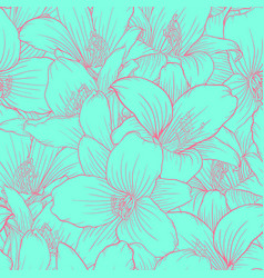 beautiful monochrome blue and pink seamless vector image vector image