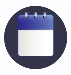 Clean sheet of calendar vector image vector image