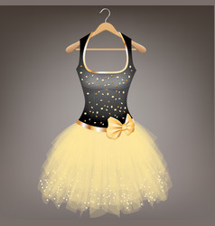 cute dress with bow vector image