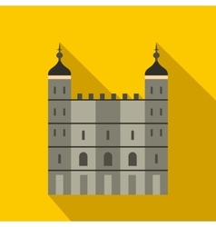 Tower of london in england icon flat style vector