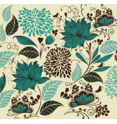 vintage flower background vector image vector image