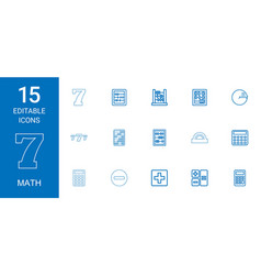 15 math icons vector
