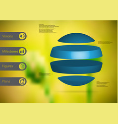 3d infographic template with ball horizontally vector image