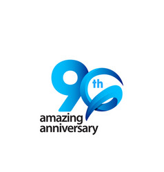 90 years amazing anniversary celebration template vector