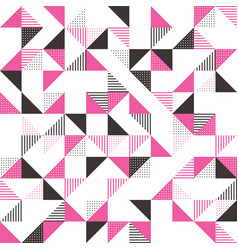 a pink and grey geometric background vector image
