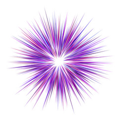 Abstract purple explosion design background vector