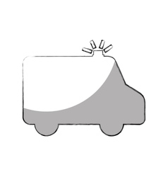 ambulance car isolated icon vector image