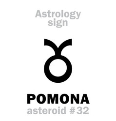 Astrology asteroid pomona vector