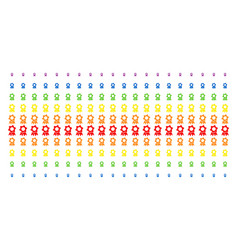 award shape halftone spectrum pattern vector image