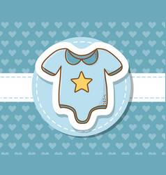 bashower card with blue dress vector image