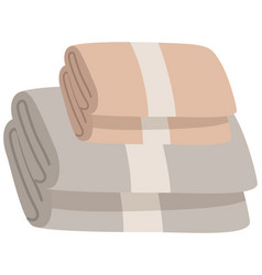 Bathroom towels pile gray and vector